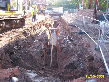 Drainage and Land Drains - Concrete Foundations, Groundwork